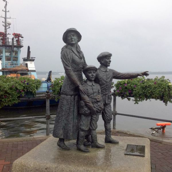(Photo:) Annie Moore and her 2 brothers. She was the first Irish immigrant into the United States to pass through federal immigrant inspection at Ellis Island Station in New York Harbour. She had 13 children, and she died of heart failure at the age of 50.