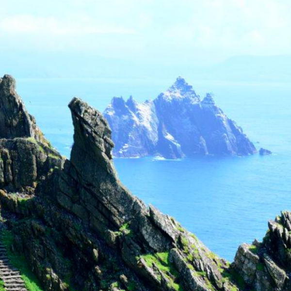 (Photo:) Skellig Islands off the Southwestern coast of Ireland and known for its well preserved Christian Monastery. Made more famous in recent years by the filming of Star wars (planet Ahch-To).
